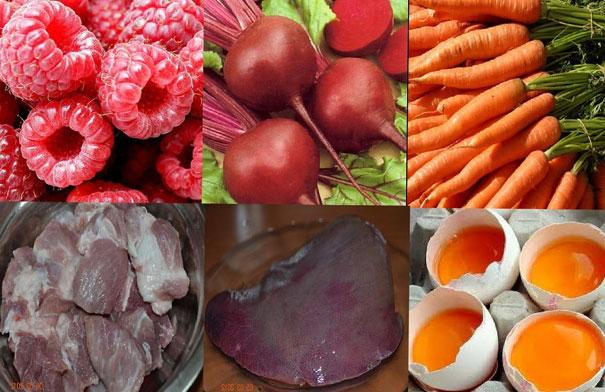 храна за покачване на хемоглобина
