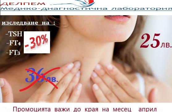 промоция за изследване на щитовидна жлеза